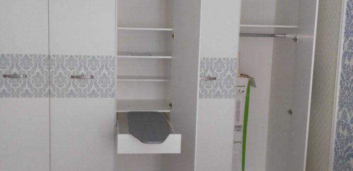 Многофункциональный створчатый шкаф в спальню