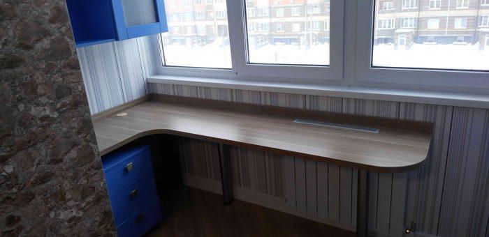 Мебель синего цвета в интерьере жилой квартиры