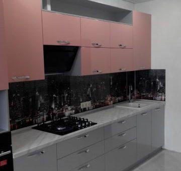 """Кухня с рисунком """"Огни ночного города"""""""