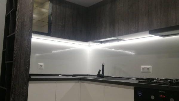 Кухня с пластиковыми фасадами Сити Пласт
